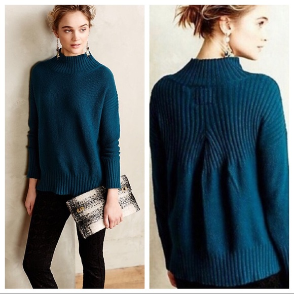 Anthropologie Sweaters - Angel Of The North Aisla Pullover Sweater In Teal